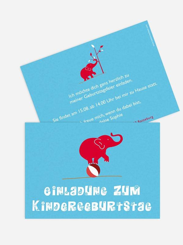 Kindergeburtstagseinladung Elefant