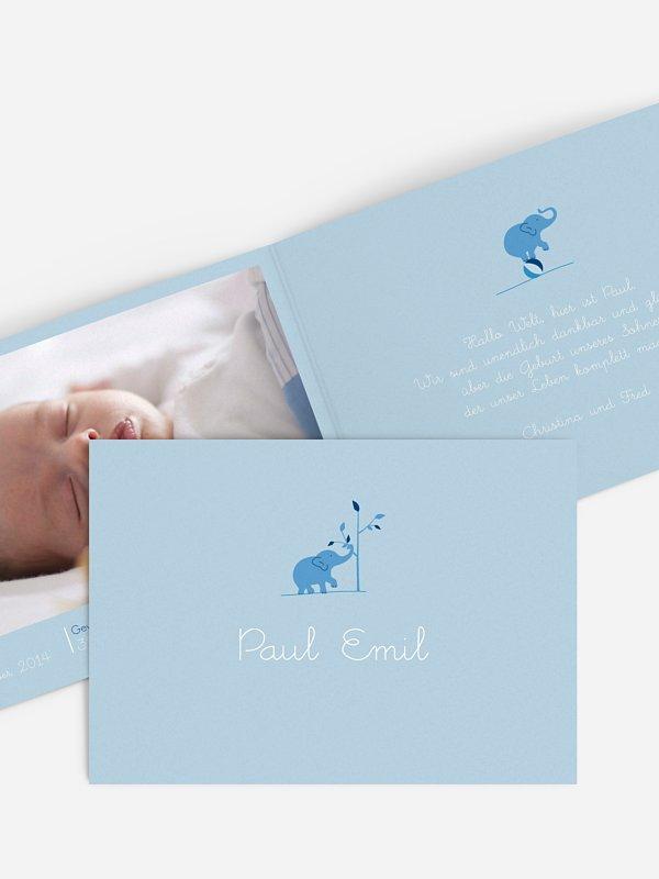 Geburtskarte Elefant