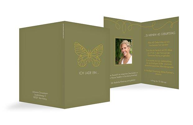 """Einladungskarte """"Schmetterling"""""""