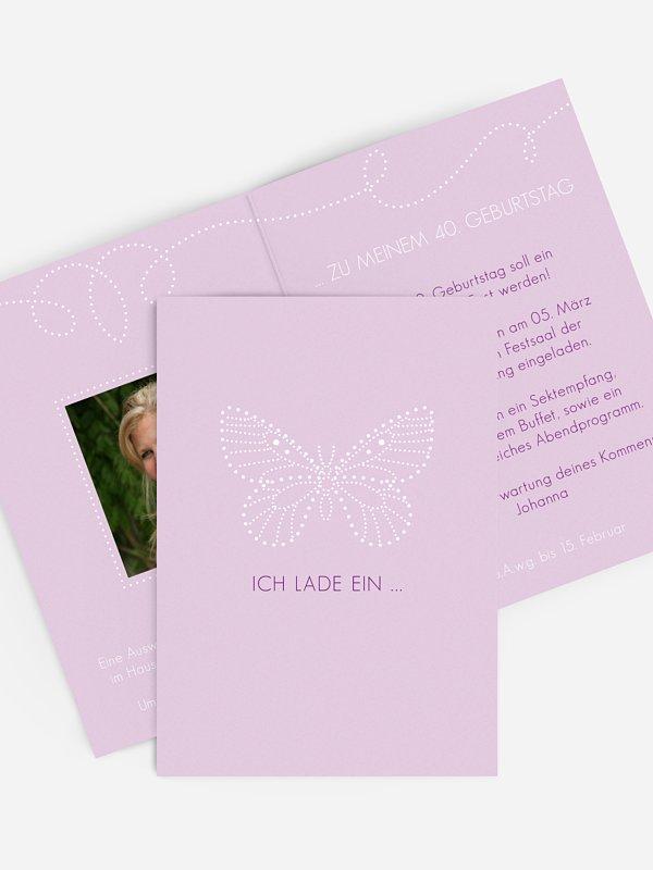 Geburtstagseinladung Schmetterling