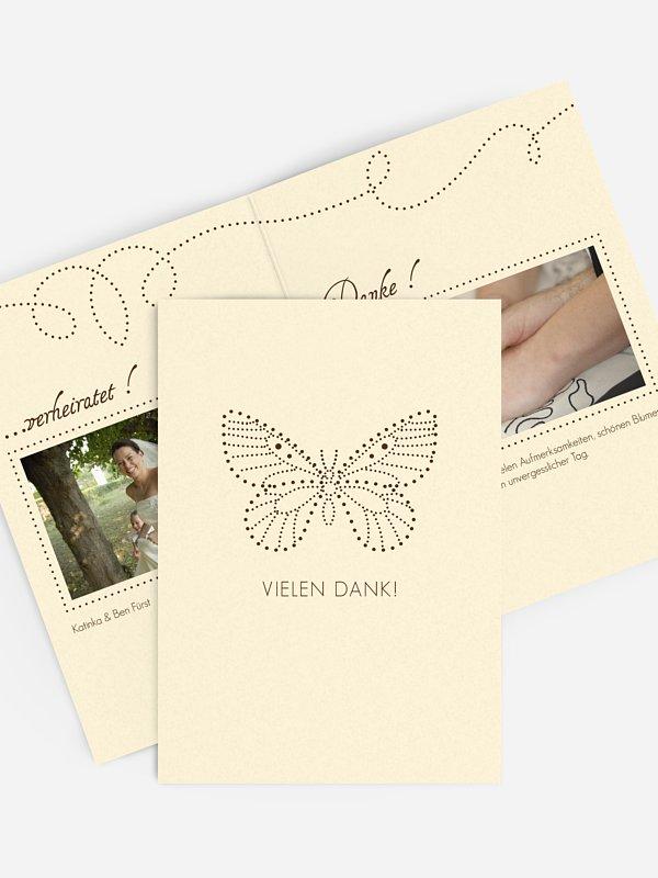 Dankeskarte Hochzeit Schmetterling