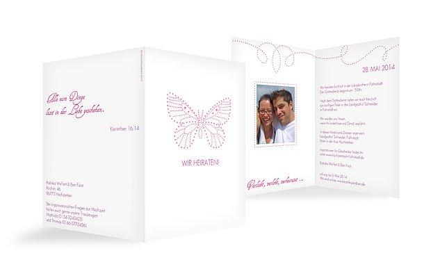Hochzeitseinladung Schmetterling