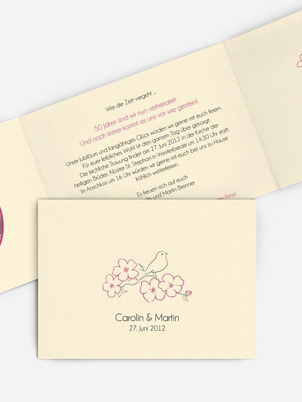 Einladung zur Goldenen Hochzeit Freebird