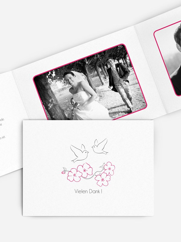 Dankeskarte Hochzeit Freebird