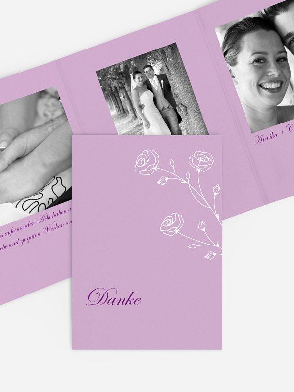 Dankeskarte Hochzeit Roses