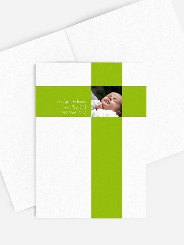 Kirchenheft Taufe Kreuz