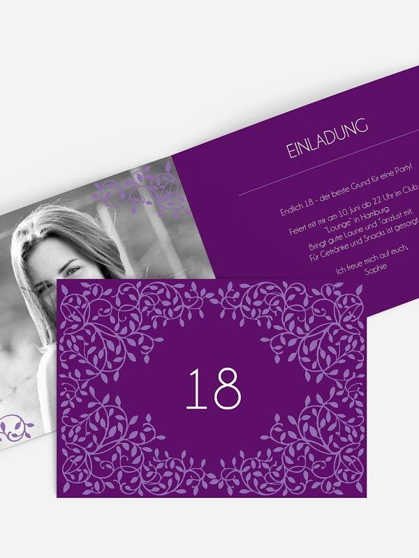 Einladung 18. Geburtstag Romance