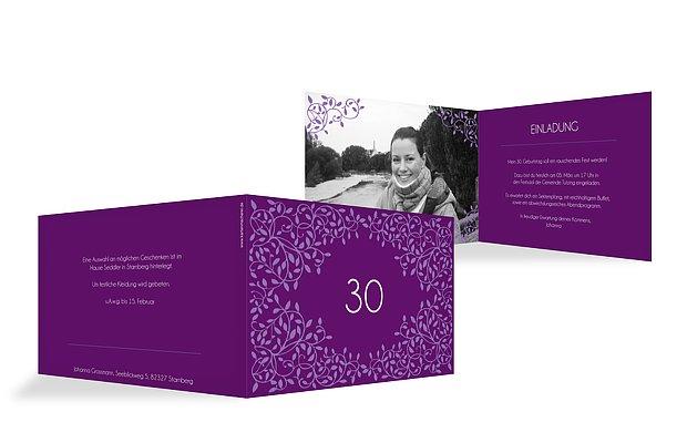 Einladung 30. Geburtstag Romance