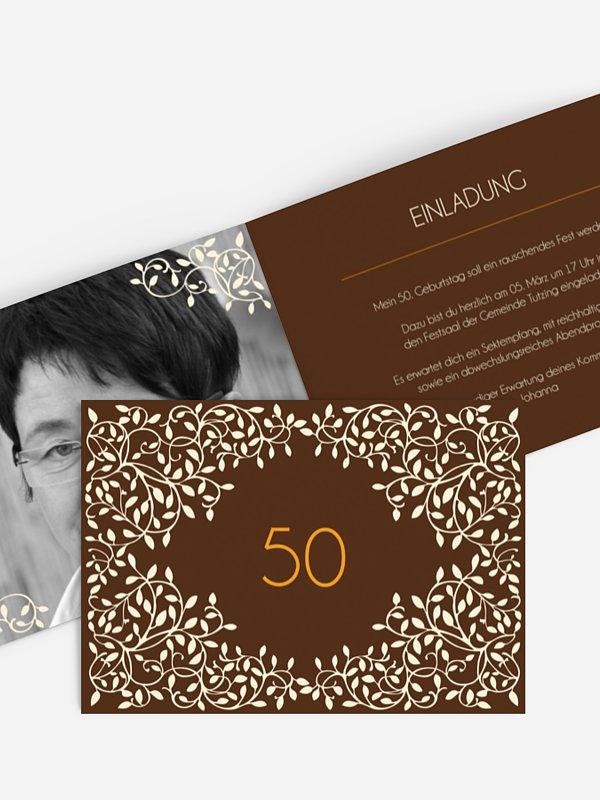 Einladung 50. Geburtstag Romance
