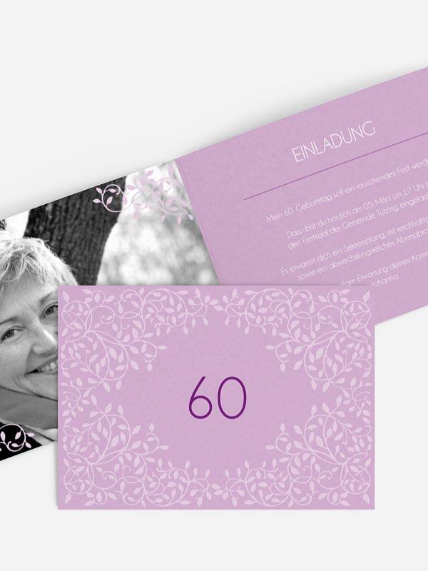 Einladung 60. Geburtstag Romance