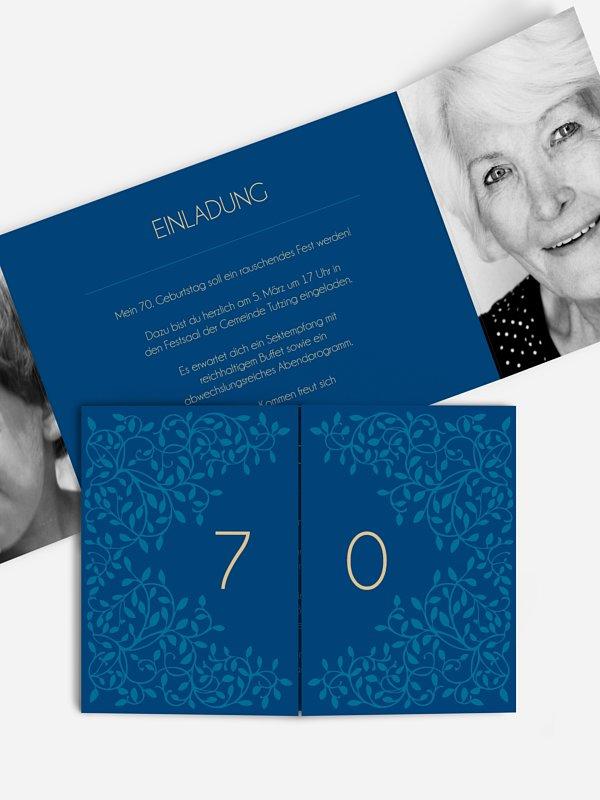 Einladung 70. Geburtstag Romance