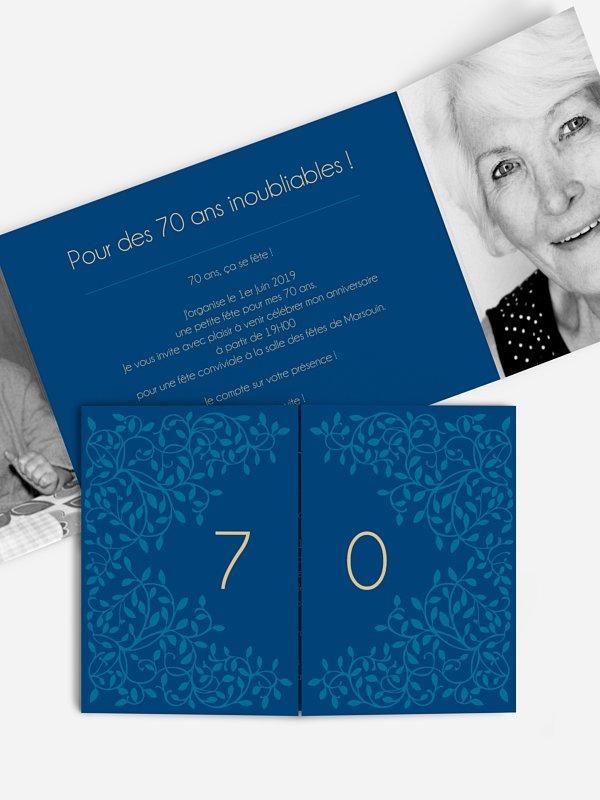invitation anniversaire 70 Romance