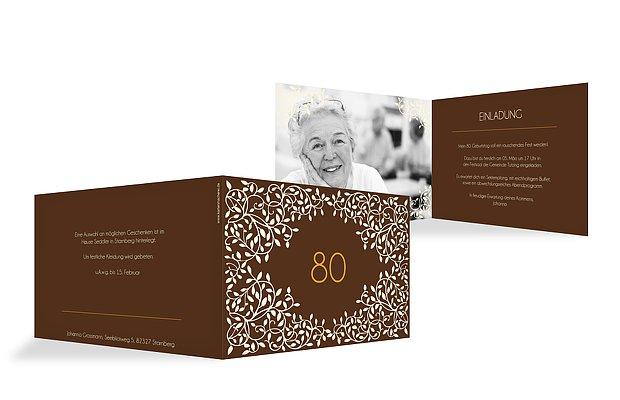 Einladung zum 80. Geburtstag: Einladungskarten gestalten