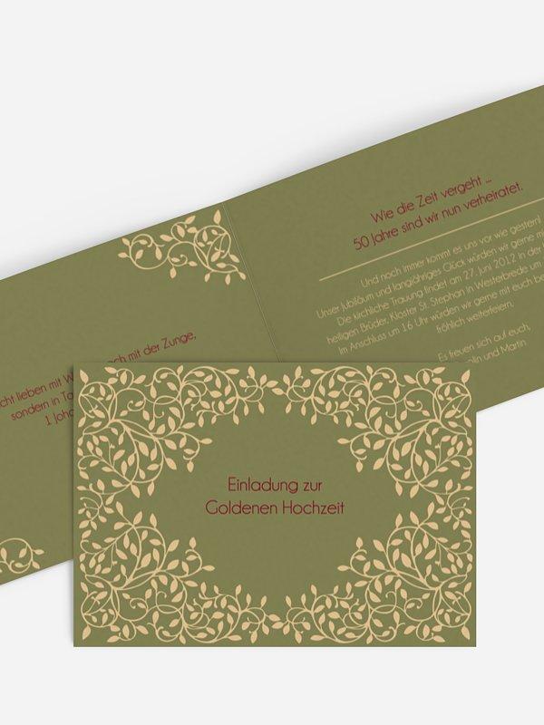 Einladung Goldene Hochzeit Romance