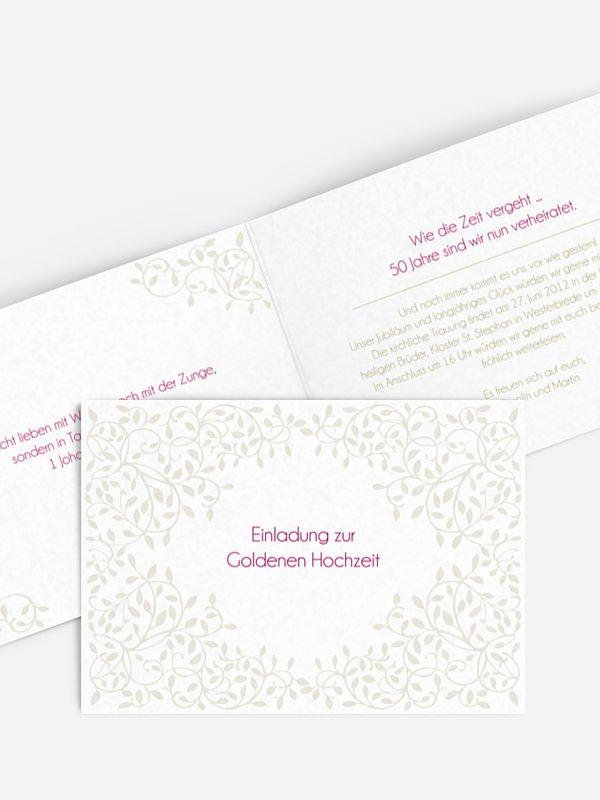 Einladung zur Goldenen Hochzeit Romance