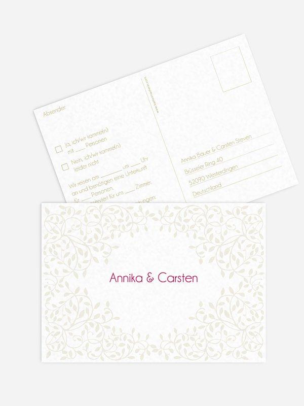 Antwortkarte Hochzeit Romance