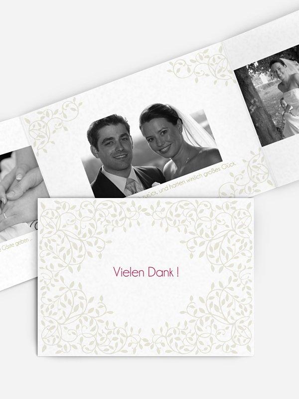 Dankeskarte Hochzeit Romance