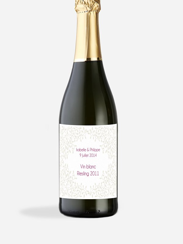 Étiquette bouteille Romance