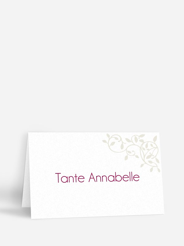 Marque-place mariage Romance