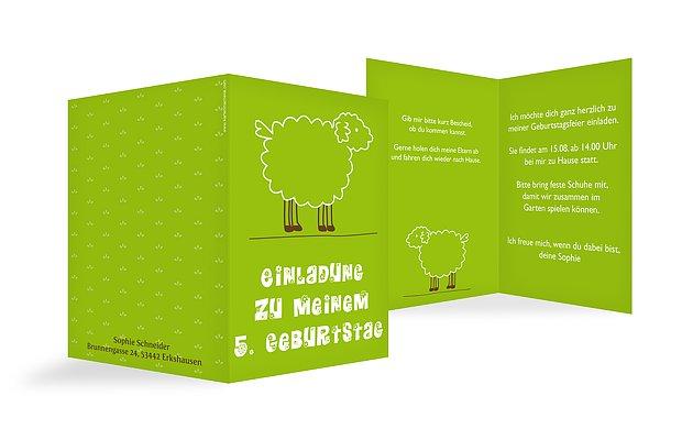 Kindergeburtstagseinladung Schaf