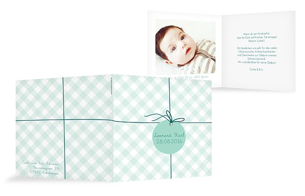 "Geburtskarte ""Geschenk"""