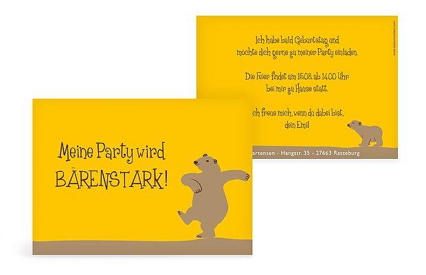 Kindergeburtstagseinladung Bär