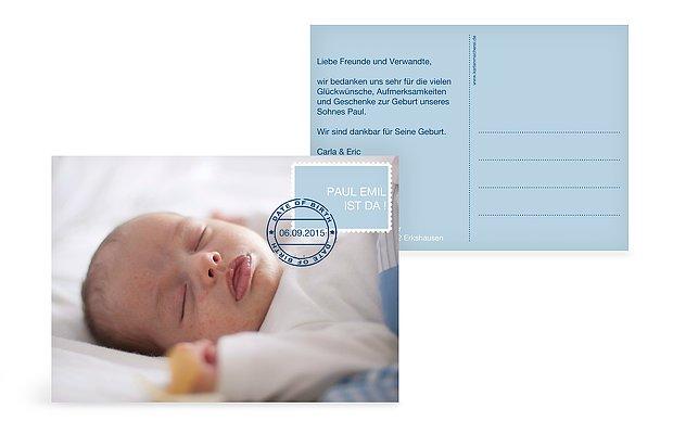 """Geburtskarte """"Briefmarke"""""""