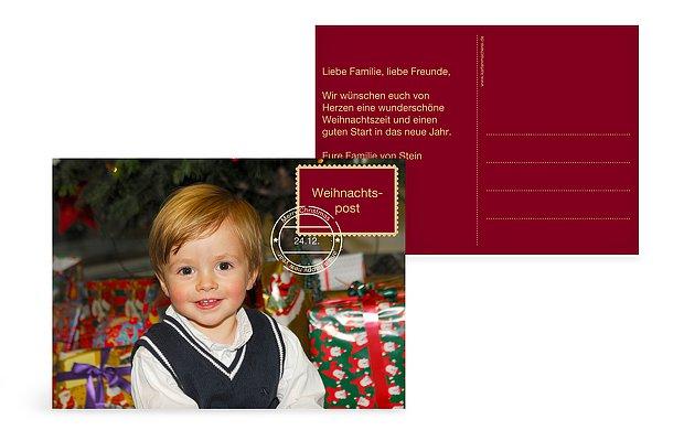 """Weihnachtskarte """"Weihnachtspost"""""""