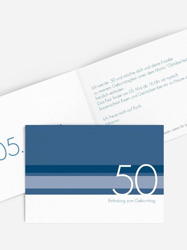 Einladung 50. Geburtstag Styline