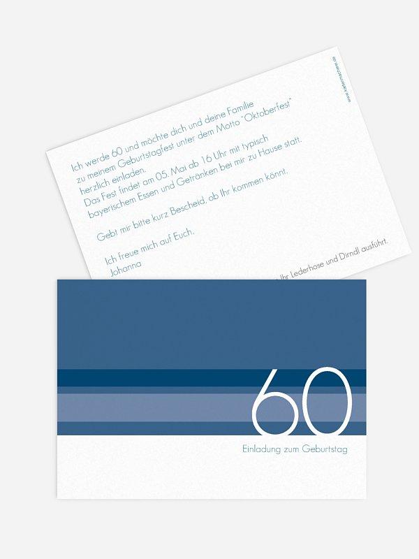 Einladung 60. Geburtstag Styline