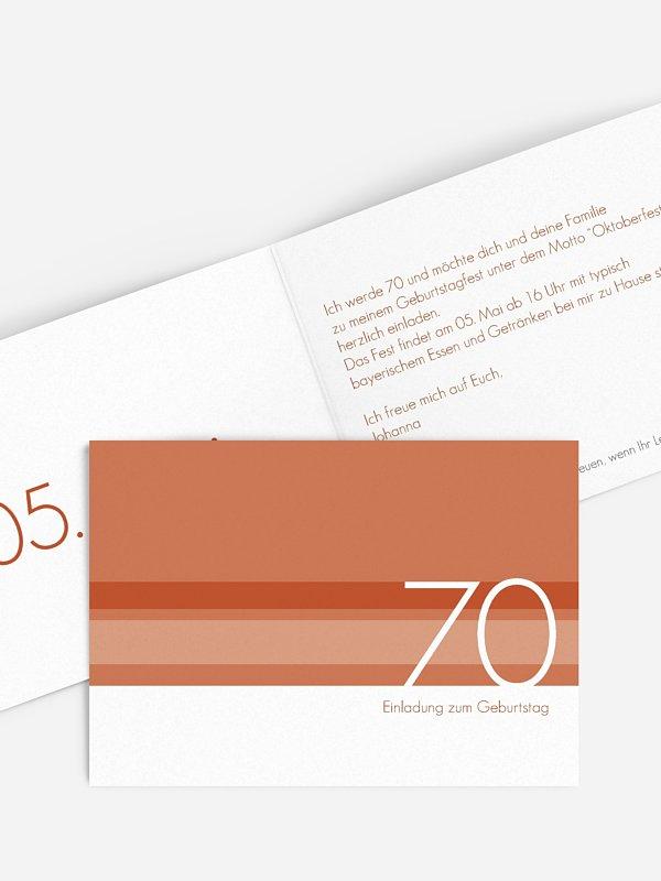 Einladung 70. Geburtstag Styline