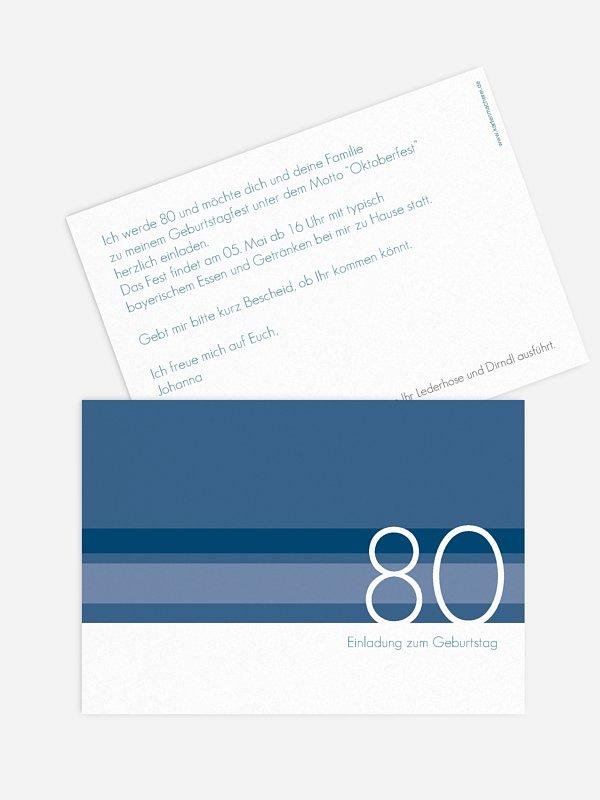 Einladung 80. Geburtstag Styline