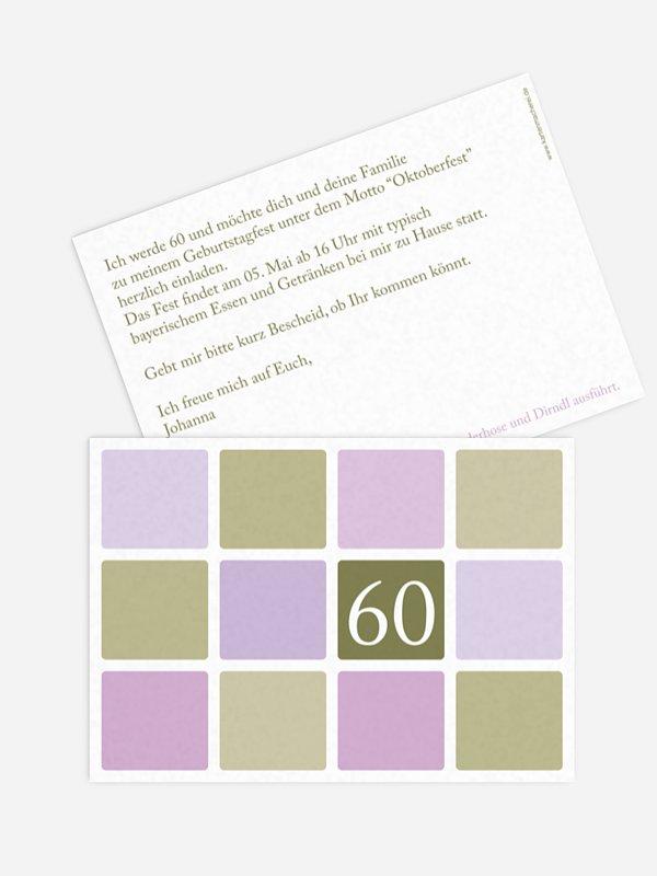 Einladung 60. Geburtstag Squared