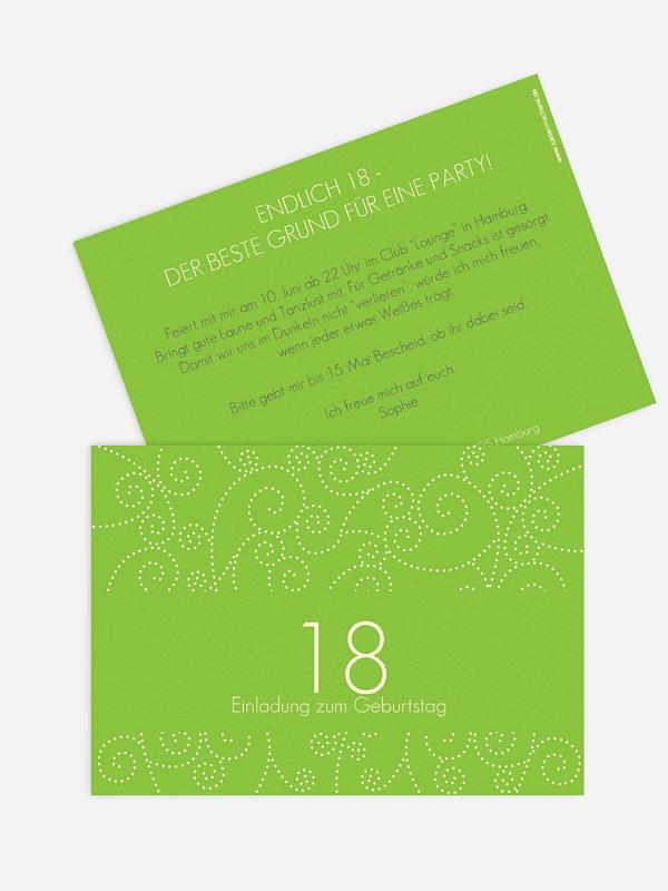 Einladung 18. Geburtstag Looping