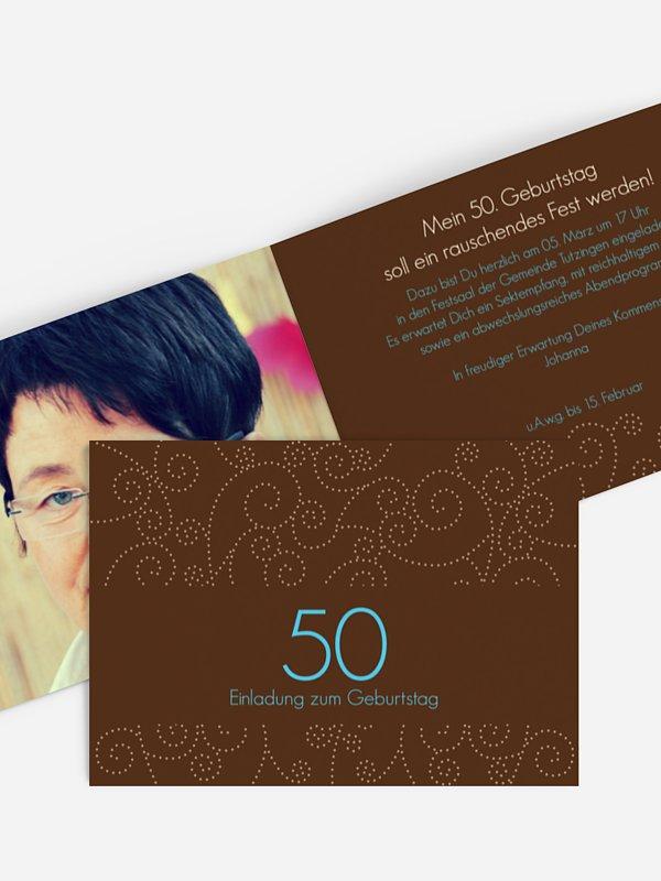 Einladung 50. Geburtstag Looping