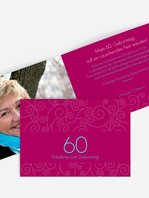 Einladung 60. Geburtstag Looping