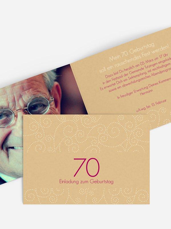 Einladung 70. Geburtstag Looping
