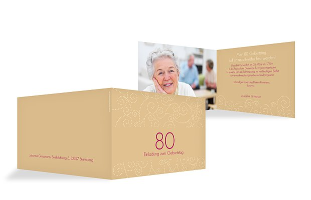Einladung 80. Geburtstag Looping