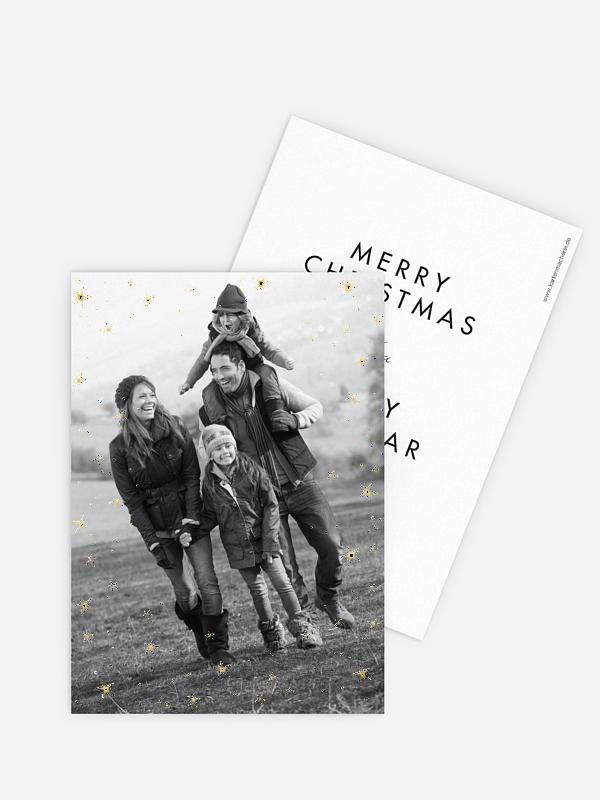 Weihnachtskarte Galaxy Greetings
