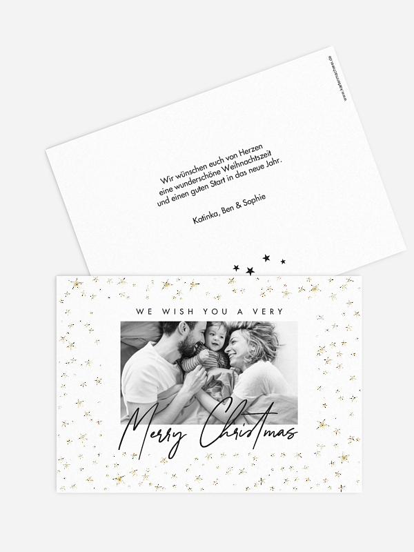 Weihnachtskarte Sternchenzauber