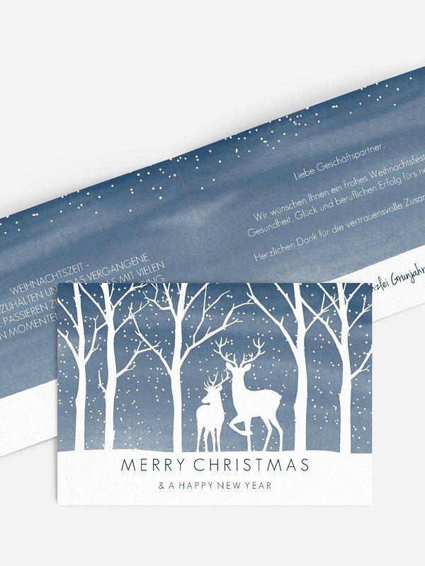 Geschäftliche Weihnachtskarte Tierreich