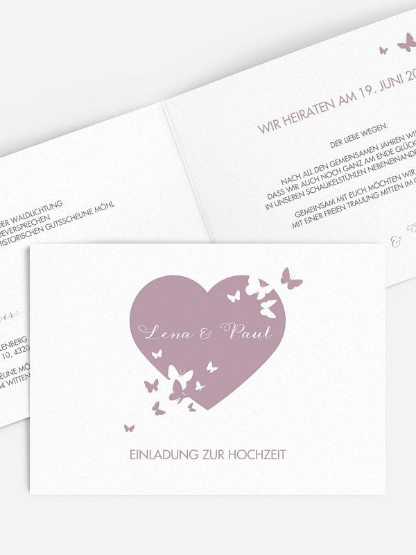 Hochzeitseinladung Wild Heart