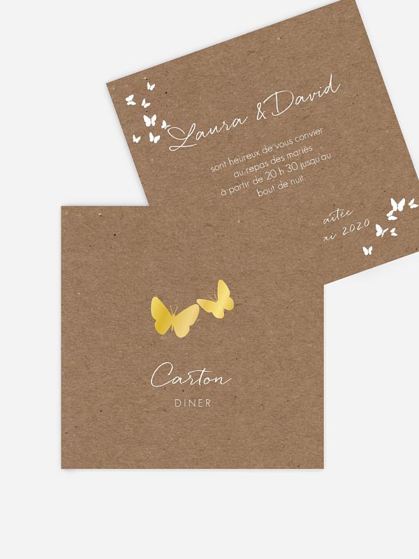 Carton d'invitation Battement de coeur