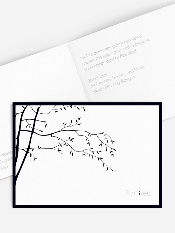Trauerkarte Zweige