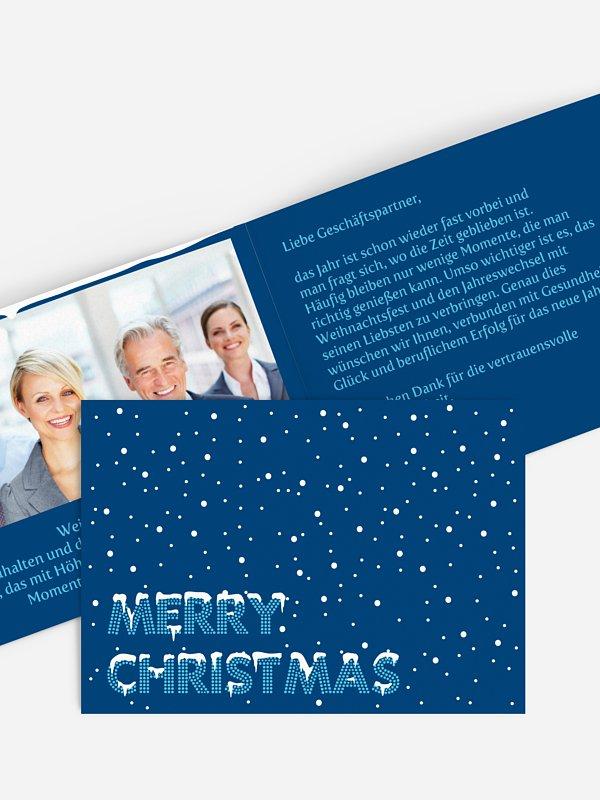 Geschäftliche Weihnachtskarte Schnee