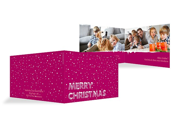 """Weihnachtskarte """"Schnee"""""""