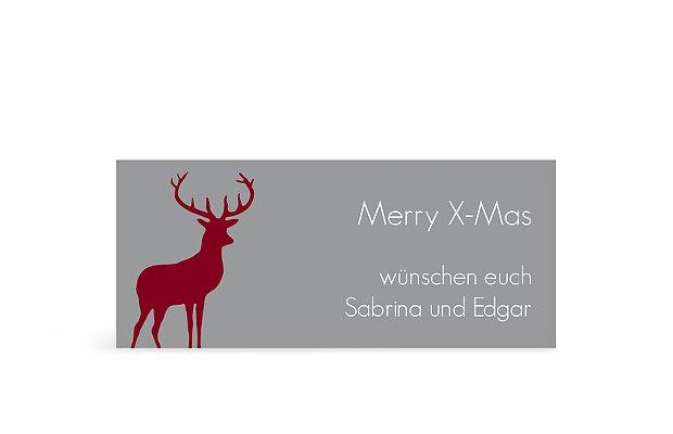 Geschenkaufkleber Weihnachten Ornamental