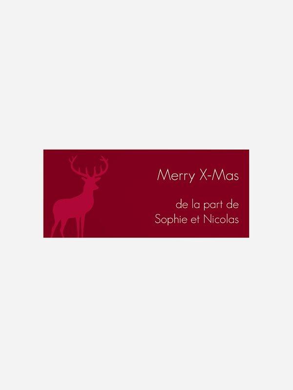 Étiquette cadeau Noël Ornementale