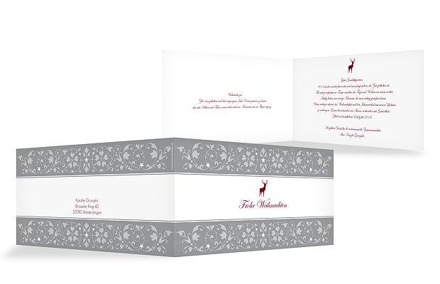 einladung zur weihnachtsfeier ornamental. Black Bedroom Furniture Sets. Home Design Ideas