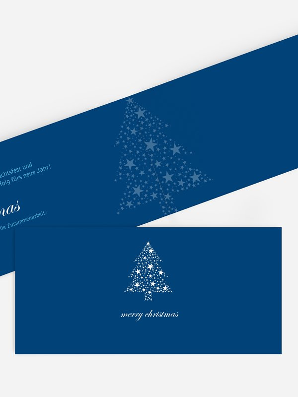 Geschäftliche Weihnachtskarte Sternbaum